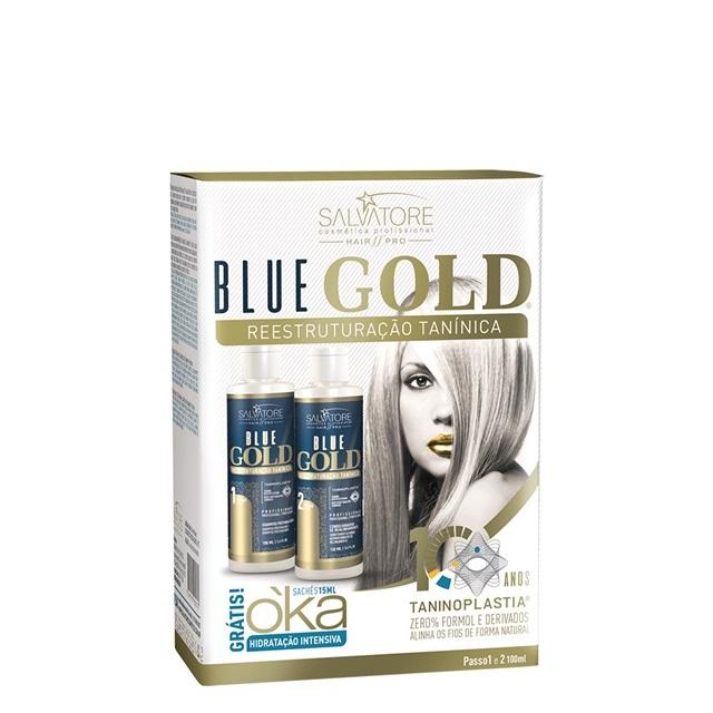 Kit Salvatore Blue Gold Reestruturação Tanínica 2x100ml (Nova Embalagem) 085df9561a
